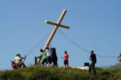 Gipfelkreuzaufstellung Jungbauernkreuz 18. Juli 2015