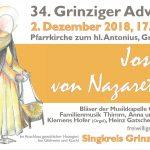 Plakat Grinziger Advent 2018