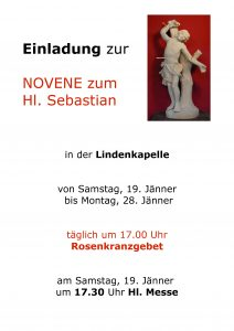 Einladung Novene Lindenkapelle