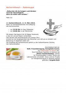 Einladung Fastensuppe