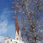 Axamer Kirche bei Schnee